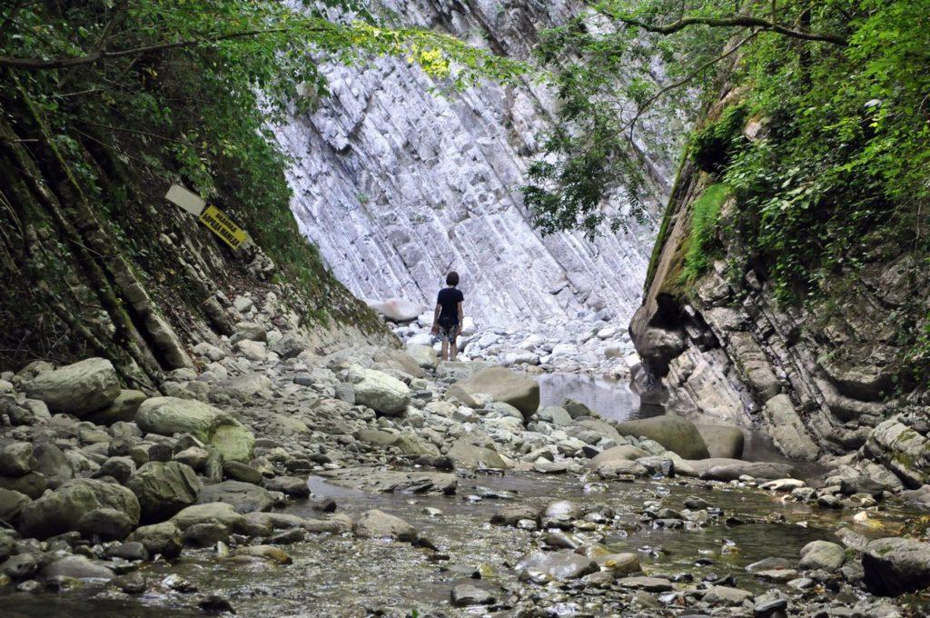 Мамедова Щель. Обратный путь через ущелье