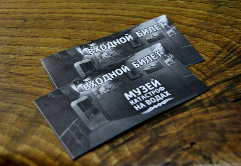 Входной билет в Музей катастроф на водах. Малореченское, Крым