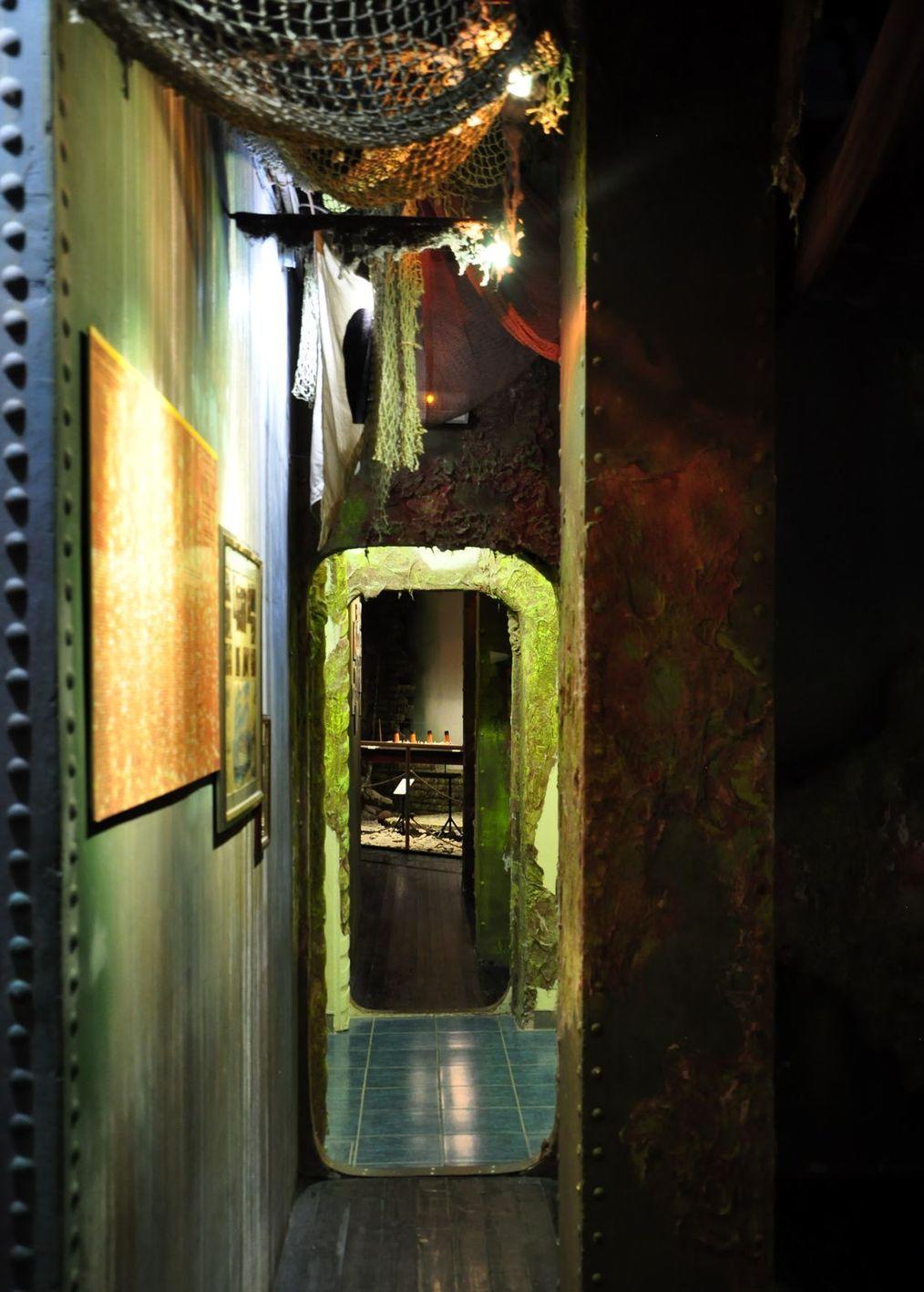 Переход из зала в зал в музее катастроф на водах. Музей катастроф на водах в Малореченском