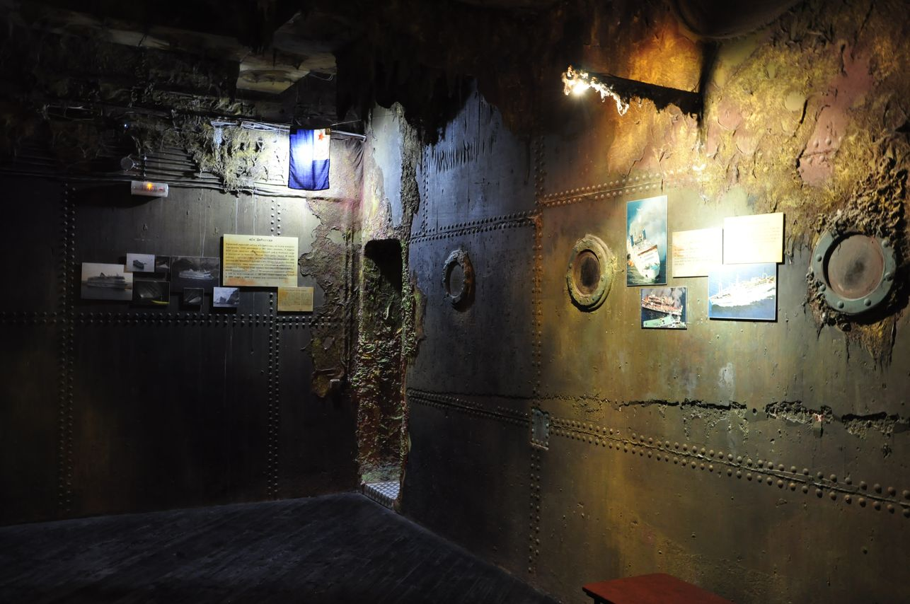 Интерьер музея катастроф на водах