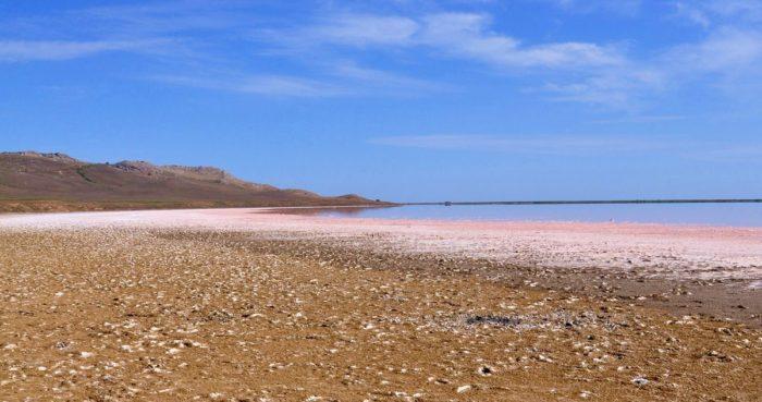Розовое кояшское озеро