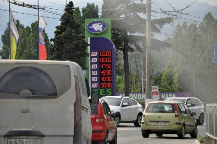 Бензин в Крыму на заправках TES